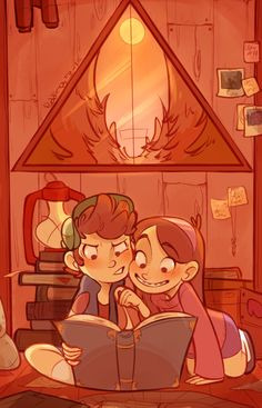 to further celebrate the gravity falls hype here's some mystery twins!! can't wait til monday!!!! Art by http://puddingdrop.tumblr.com/