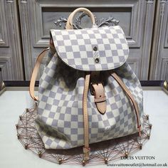 Louis Vuitton N41578 Sperone Backpack Damier Azur Canvas