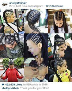 2018 fue un año lleno de muchas bendiciones, gracias a Dios porque es bueno en todo Tiempo, porque sin el nada de mis metas y deseos se… African Braids Hairstyles, Braided Hairstyles, Pretty Braids, Best Nine, Hair Game, Little Girl Hairstyles, Nail Spa, Cornrows, Fashion Books