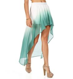 I don't always like high-low dresses and skirts, but I like this one.