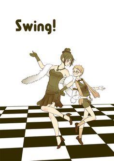 """tsugumi/さに日和泉G15 on Twitter: """"博多とスウィング。ニューヨークをテーマにした曲で踊って欲しいです。個人的にリトルダンディ博多は「刀剣男士、女の子をはべらせるのが似合うランキング」に常に上位入賞しております(笑) #刀と踊る https://t.co/mqoeY8hmyf"""""""