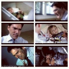 "Saddest moment in Criminal Minds history ever...""Daddy I worked the case like you said"""