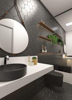 Residencial Unifamiliar JN: Banheiros modernos por Daniela Andrade Arquitetura