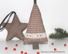 Items similar to Wool Christmas ornaments, Handmade trees star ornament, Brown christmas decoration, Christmas tree decoration on Etsy Brown Christmas Decorations, Christmas Gifts, Christmas Ornaments, Holiday Decor, Heart Bookmark, Star Ornament, Wool, Stars, Unique Jewelry