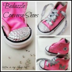 Learn how to bedazzle converse shoes