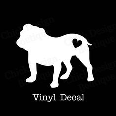 English Bulldog Silhouette Vinyl Decal by ChickDesignBoutique, $5.00