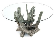 Driftwood Dining Table, Beach Wood, Natural Table, Organic | Woodland Creek Furniture