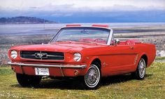This is LOVE.  This is the ultimate dream.  1964 1/2 red convertible Mustang.  Okay let me stop drooling...