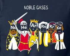 Noble Gases t shirt funny Science shirt S-3XL