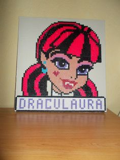 Draculaura - Monster High hama beads by laurent mathieu