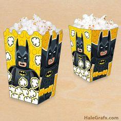 Free printable Lego Batman popcorn box - Batman Party - Ideas of Batman Party - Free printable Lego Batman popcorn box Lego Batman Party, Lego Batman Cakes, Lego Batman Birthday, Lego Birthday Party, Superhero Party, 4th Birthday, Birthday Parties, Birthday Crafts, Batman Vs