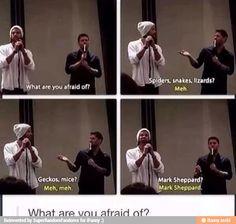 Mark Sheppard   Supernatural. But I love Mark Sheppard!