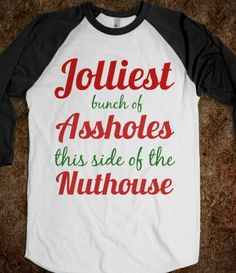jolliest bunch of assholes this side of the nuthouse christmas vacation shirt