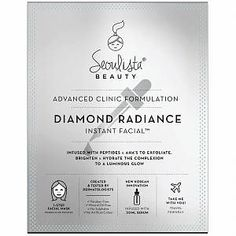 Seoulista Beauty - Instant Facials Diamond Radiance Instant Facial for Women -  Made from naturally derived bio-cellulose, this one-step facial mask is infused with peptides and AHA's for the ultimate brightening and anti-ageing treatment. Created by dermatologists, The Diamond Radiance Instant Facial is a natural coconut, gel-like mask infused with a high-tech formula to deliver Seoulista Beauty – Instant Facials Diamond Radiance Instant Facial for Women kelkoo_uk kelkoo_uk Products Made… Bio Oil Before And After, Pigmentation, Exfoliant, Flower Oil, Water Flowers, Rosehip Oil, Perfect Skin, Mineral Oil, How To Apply Makeup