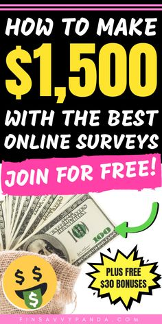 I personally love taking paid surveys to earn extra cash! They are easy to do and you can start making money NOW! Here are the best and most legit survey sites you NEED to try. It's time to make extra money with this SUPER easy side hustle! You can choose Make Money Taking Surveys, Online Surveys For Money, Surveys For Cash, Ways To Earn Money, Online Jobs, Make Money From Home, Way To Make Money, Make Money Online, Legit Paid Surveys