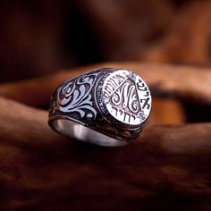 The Bulgakov ring Silver with Zirkons intention: Understand that you are the creator of your own reality Bulgakov Master And Margarita, Gold Jewelry, Jewlery, The Master And Margarita, M Letter, Great Novels, Mens Silver Rings, Two By Two, Rings For Men
