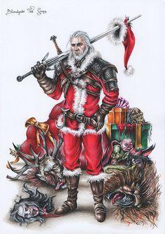 Geralt - Witcher 3: Wild Hunt Christmas Edition by BlondynkiTezGraja