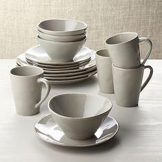 Gibson Home Paradiso 16-Piece Round Dinnerware Set in Grey ...