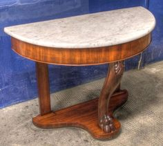 ~Antique ~Victorian ~Marble Top ~ Flame Mahogany~ Console Table ~Wash Stand~ VGC