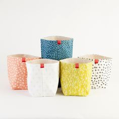 Keep it all organized with these fabric buckets.