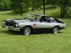 "1976 Ford Maverick Stallion. The Stallion package was available on the 1976 Maverick, Pinto and Mustang II. It included sport mirrors, a blackout grille, sport aluminum wheels, special two-tone paint and ""Stallion"" sports decals."