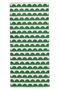Ellos Home Matta Joanna 70x250 cm Grå, Grön - Bomulls- & trasmattor | Ellos Mobile