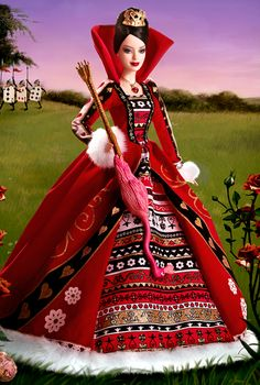 Queen of Hearts Barbie (2007): Barbie Collector #Barbie #Barbie doll