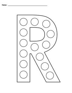 Uppercase Letter R Do-A-Dot Printable...