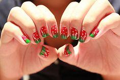 #Nails #Strawberry #Fraise
