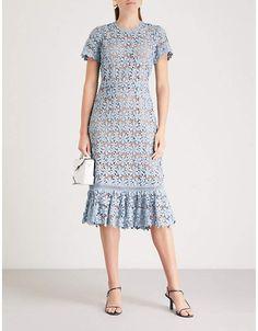 8df3775959 MICHAEL MICHAEL KORS Flared floral-lace midi dress