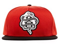 World Famous Snapback Cap Rust Red By REBEL 8 Rebel 8 76f491ba3e2b
