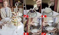 Etiquette expert William Hanson says sticking your little finger out as you drink your tea is strictly non-U and says cupcakes should be avoided at all costs. Scone should be pronounced 'skon'.