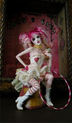 nicole west dolls | Acid PopTart, Amazing polymer clay Emelie Autumn doll sculpted...