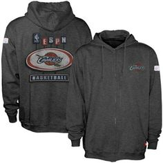 Sportiqe-ESPN Cleveland Cavaliers Charcoal Pancakes Distressed Full Zip Hoody Sweatshirt