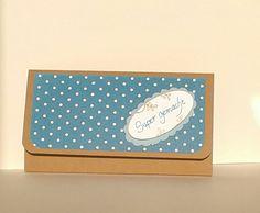Verpackung Geschenkkarte in petrol und ovalem Etikett