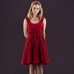 Emma Watson Knee Length Red Sexy Party Dresses in Harry Potter