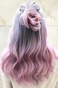 Lilac Hair Color Shades: Lilac Hair Dye Tips Brown Hair Shades, Hair Color Shades, Ombre Hair Color, Ombre Hair Dye, Lilac Hair Dye, Purple Hair, Dyed Hair, Lavender Hair, Dyed Tips