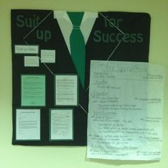 Suit Up for Success (resume tips) Bulletin Board