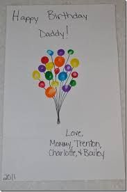 Easy to make birthday or any day card from little ones finger monster handprint birthday card with fingerprint balloons a bookmarktalkfo Images