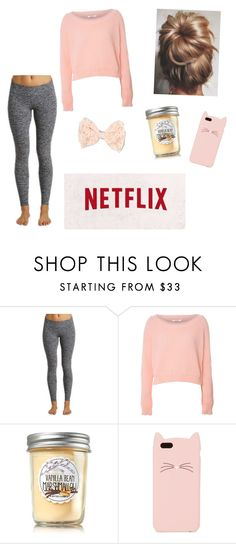 """Cozy night at home!☕️"" by mollyholly1703 ❤ liked on Polyvore featuring Beyond Yoga, Glamorous, Kate Spade and Full Tilt"