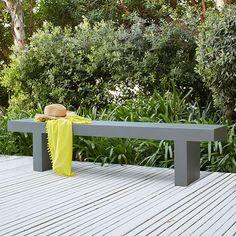 Quarry Indoor/Outdoor Dining Bench | west elm