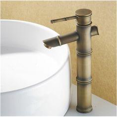 Kaufen (EU Lager)Antik Messing Bad Waschtischarmatur - Bambus-Form mit Günstigste Preis und Gute Service!