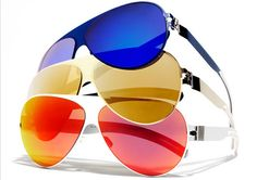 blue,red and yellow sunglasses