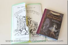 The Adventures of Tom Sawyer Unit Study & Lapbook - Confessions of a Homeschooler Kids Reading, Teaching Reading, Reading Club, Learning, Classic Literature, Children's Literature, Mini Books, Lap Books, Children's Books