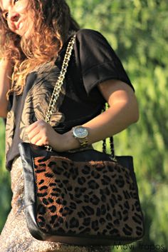 Bolso Animal Print Mango