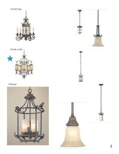 French country lighting selects 2  sc 1 st  Pinterest & French country lighting selects 1 | French Country Kitchen Remodel ...