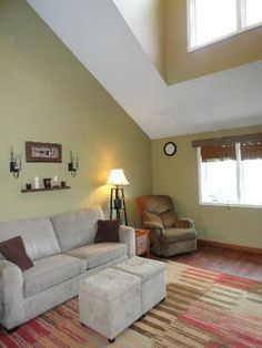 Great detail in this Living Room!  8821 Coleman Road, Coleman, MI.