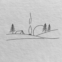 One other minimal mountain vary.⠀ I would truly like to total one of many animals in… Tee Shirt Design possibility. Simple line art. Mini Drawings, Cute Easy Drawings, Pencil Art Drawings, Doodle Drawings, Drawing Sketches, White Board Drawings, Sketchbook Drawings, Minimalist Drawing, Simple Doodles
