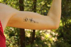 Dainty Poppy Temporary Tattoo by mossandferndesignco on Etsy