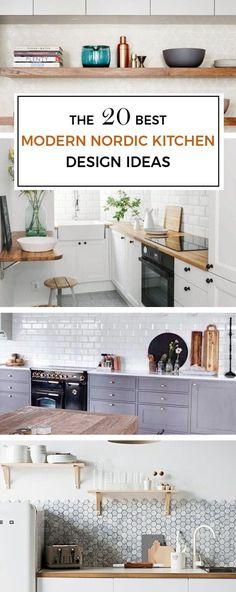20 MODERN NORDIC KITCHEN DESIGN IDEAS | Scandinavian Interior Design | #scandinavian #interior